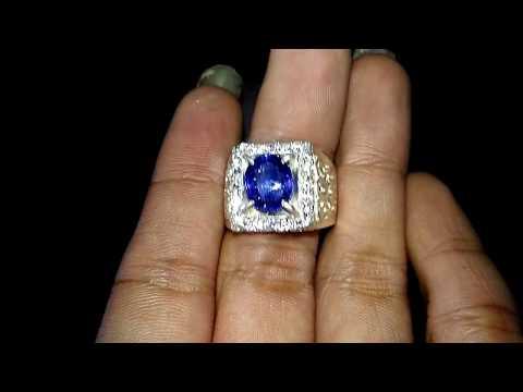 Batu Cincin Blue Safir Asli (kode:691)