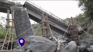 Jembatan Kaligung di Tegal roboh dan terbelangkalai - NET24
