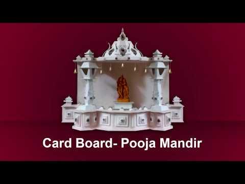 Card board Pooja Mandir Making