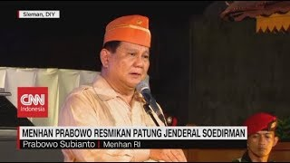 Menhan Prabowo Resmikan Patung Jendral Soedirman