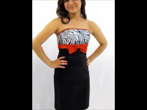 Zebra Print - short zebra print prom dresses, damas dresses, party ...