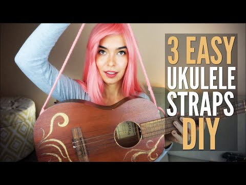 3 DIY Ukulele Straps Under $5!!! (No Drilling)