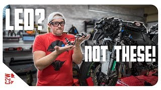 ZX10 LED lights install attempt! Why do they do this?! [Wrecked Bike Rebuild - S2 - Ep 16]