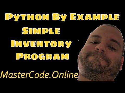 Python Programming: Simple Inventory Program In Python