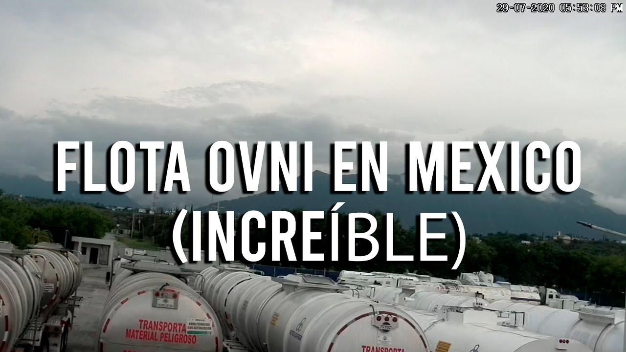 Cámara de Seguridad capta FLOTA OVNI en México