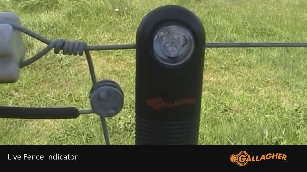 Gallagher Live Fence Indicator Installation Youtube