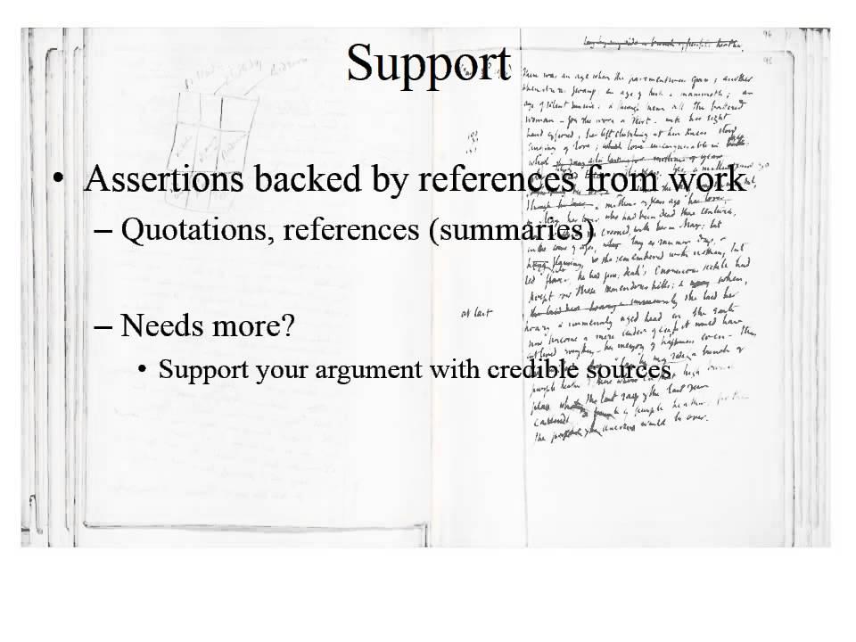 Literary argument paper