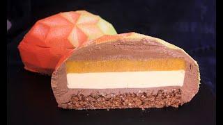 Муссовый торт Манго Маракуйя Шоколад Mousse Cake MANGO PASSION FRUIT CHOCOLATE