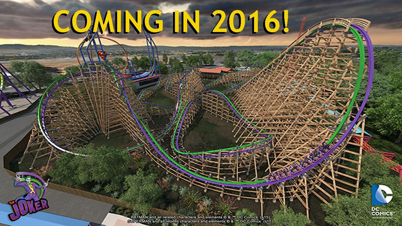 Six Flags The Joker Full Pov Rmc Coaster New For 2016 Discovery Kingdom Hybrid Roller Coaster You