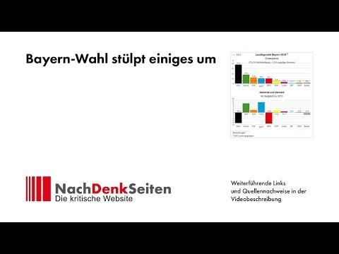 Bayern-Wahl stülpt einiges um | Albrecht Müller | NachDenkSeiten-Podcast
