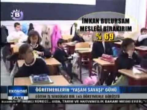 """Eğitim İş """"Öğretmenlerin gelirlerine ilişkin öğretmen görüşleri""""Anketi-Kanal B Sabah Programı"""