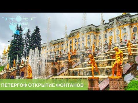 Петергоф открытие фонтанов: Экскурсия под дождём (petergof) #Авиамания