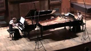 """Saint-Saëns """"Danse macabre"""", op.40 for two pianos - Anastasia & Liubov Gromoglasova"""