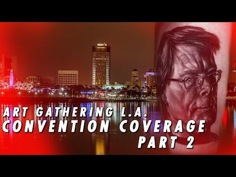 Tattoo Convention Coverage - Art Gathering LA - Part 2 - 동영상