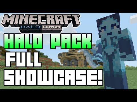 Minecraft (Xbox 360) - Halo Mash-Up Pack - SHOWCASE GAMEPLAY + First Impressions