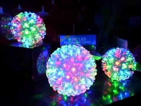 Bola de luces led de colores de 100 luces y 50 luces led mercado libre venezuela youtube - Focos led con luces de colores ...