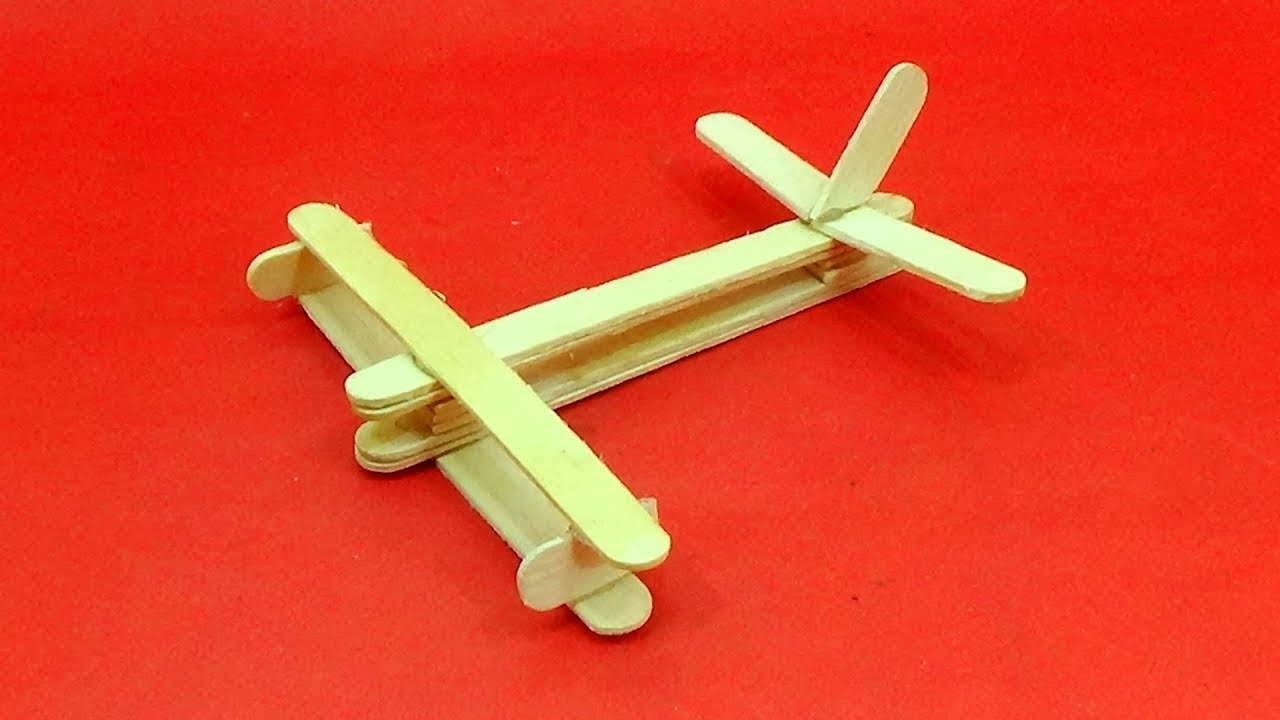 Download Popsicle Stick Plane Making Easy Tutorial - How To Make a Airplane With Popsicle Stick