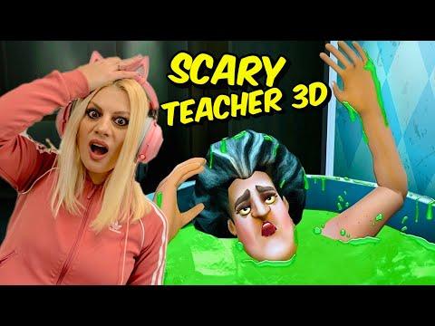ΚΑΗΚΕ ΚΑΙ ΚΟΛΛΗΣΕ ΣΤΗΝ ΜΠΑΝΙΕΡΑ ΤΗΣ Η Scary Teacher Let's Play kristina @Kristina Ekou