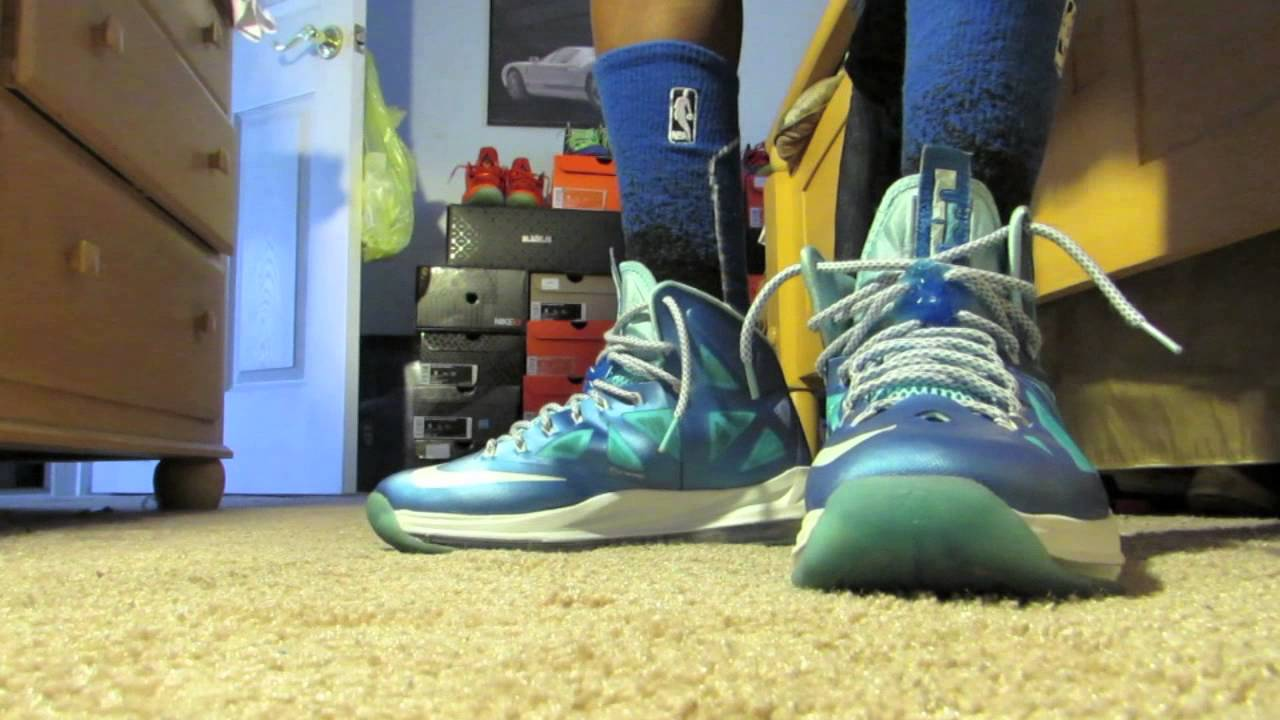0e0f870be160 Lebron 10 Blue Diamond On Feet Review - YouTube