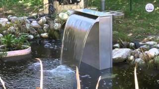 FIAP premiumdesign WaterFall ist ein edles Designobjekt für Teich, Terrasse und Garten