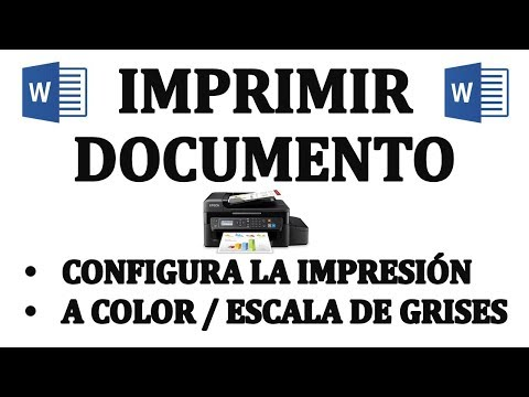 Como imprimir un documento y configurar impresión. Imprimir a color, escala de grises.
