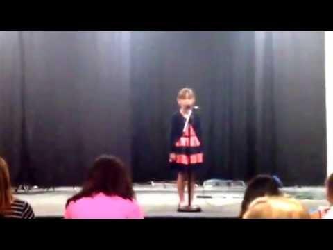 "Hallie sings ""Amazing Grace"" - YouTube"