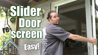 how to re screen slider patio door replace screen install new easy rescreen