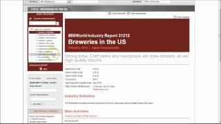 How to find market and industry research reports for the U.S. Brewing industry