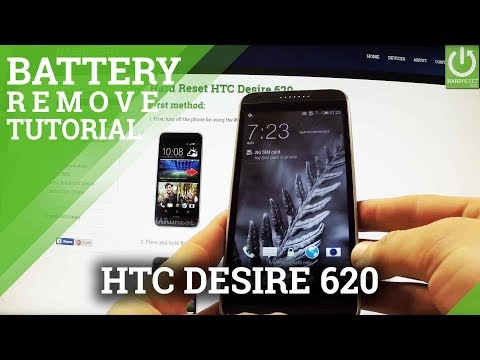 How to Remove Battery in HTC Desire 620 - Soft Reset / Force Restart