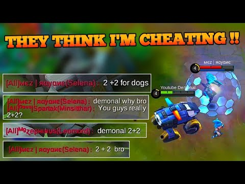 THEY THINK I AM CHEATING (2+2) ON MOBILE LEGENDS