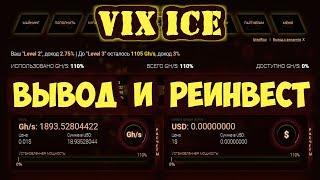 VIX ICE - ВЫВОД И РЕИНВЕСТ.
