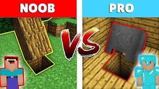Minecraft NOOB vs. PRO: ENTRADA SECRETA en Minecraft! Animación
