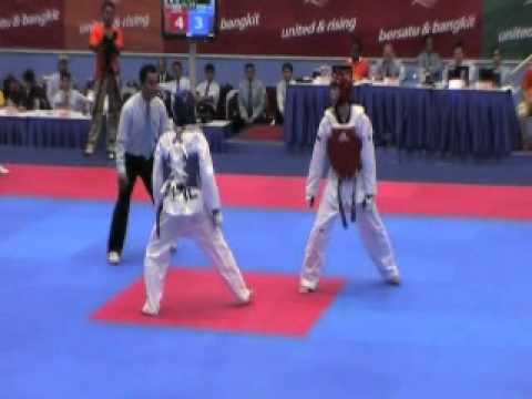 Philippines Vs Singapore - 26th  SEA Games Taekwondo  - Under 58 Kg Men