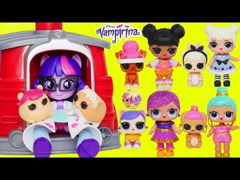 LOL Surprise Doll Lost Pet Baby Barbie Doctor Visit My Little Pony Twilight Sparkle Morning Party!