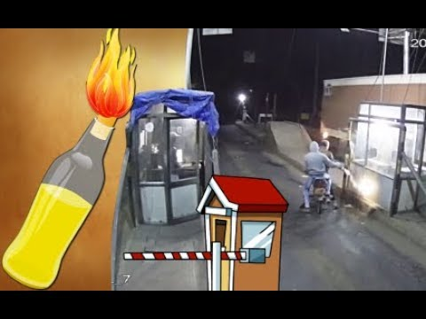 Petrol Bomb attack on Toll-booth on Ahmedabad-Udaipur NH in Modasa Dist