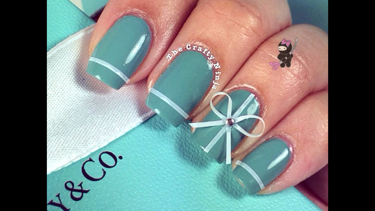 Tiffany co inspired nails by the crafty ninja youtube prinsesfo Images
