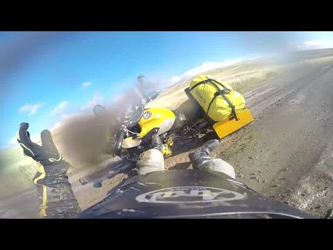 Continental Divide Trail Part 2.  Crash at beginning of video.
