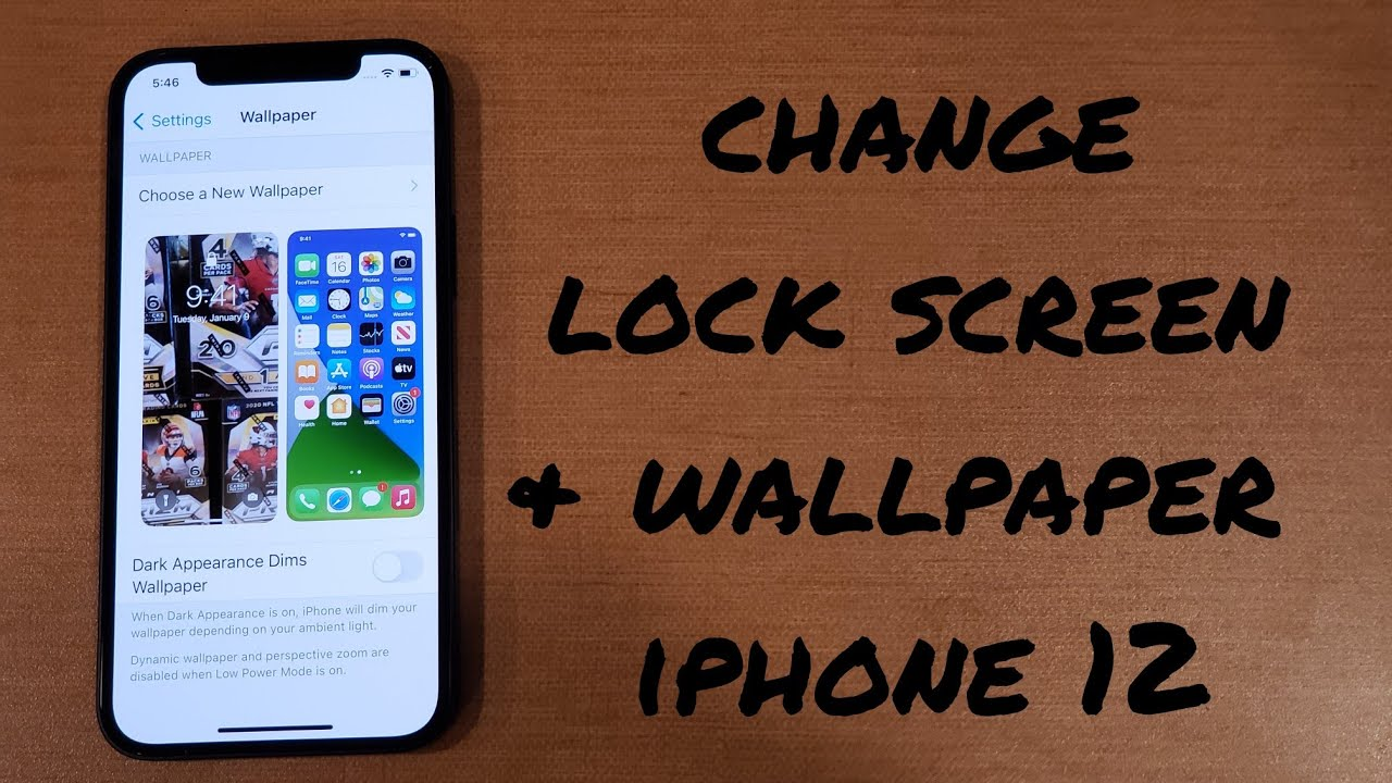 how to change wallpaper/ lock screen iphone 12, 12 mini, 12 pro, 12 pro max.