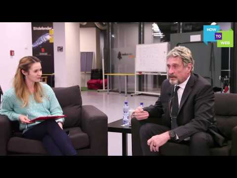 John McAfee Video interview - at 2017 d10e Conference