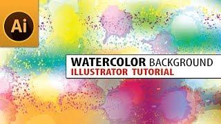 Create Watercolor Background in Illustrator Tutorial