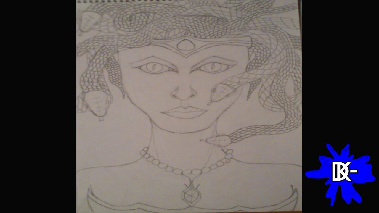 Como Dibujar A Medusa Mitología Griega Youtube