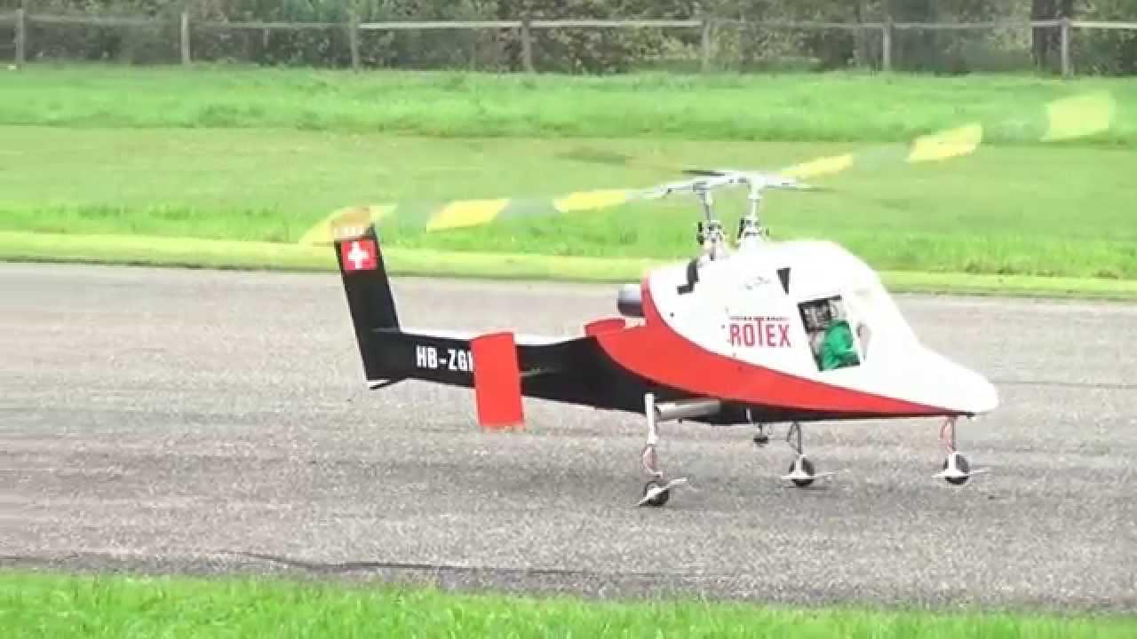 Elicottero Kaman K Max : R c huge kaman k max rotex double rotor turbine