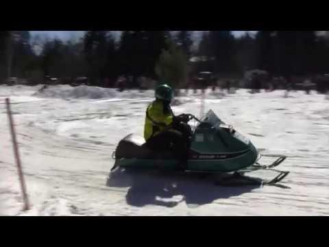 Nut Kracker 2018 Vintage Snowmobile Racing Course   Part 1