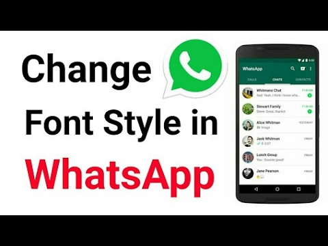 How to Change font style on Whatsapp