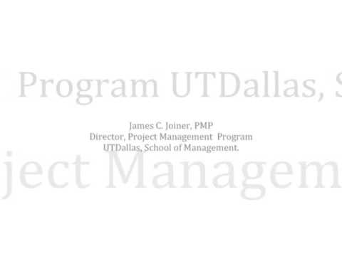 Ut Dallas Project Management Program Information