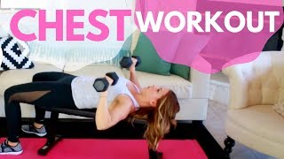 Women's Chest Workout At Home | Increase Breast Size?!