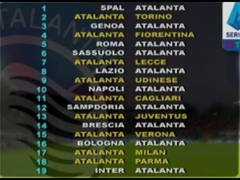 Interit Calendario.Serie A Il Calendario Dell Atalanta