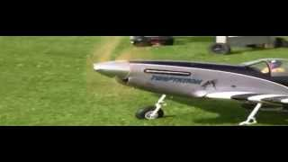 Huge r/c P51D with inline 4 cylinder engine