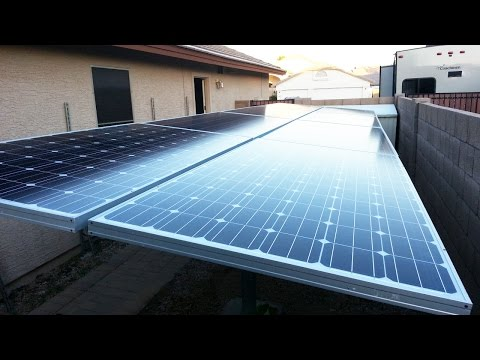 My Upgraded 2.5kw Solar PV System Part 01 (new solar ground mounting rack)