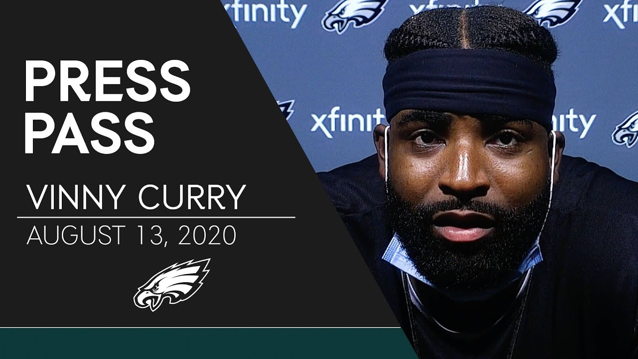 Vinny Curry Talks Re-Signing w/ the Eagles & More | Eagles Press Pass